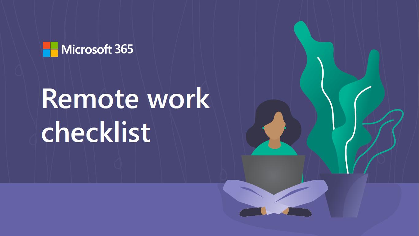Microsoft Remote Checklist