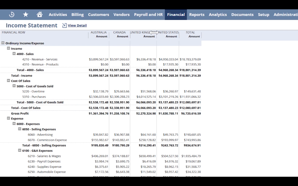 Oracle NS - Multi Currency Income Statement-1000