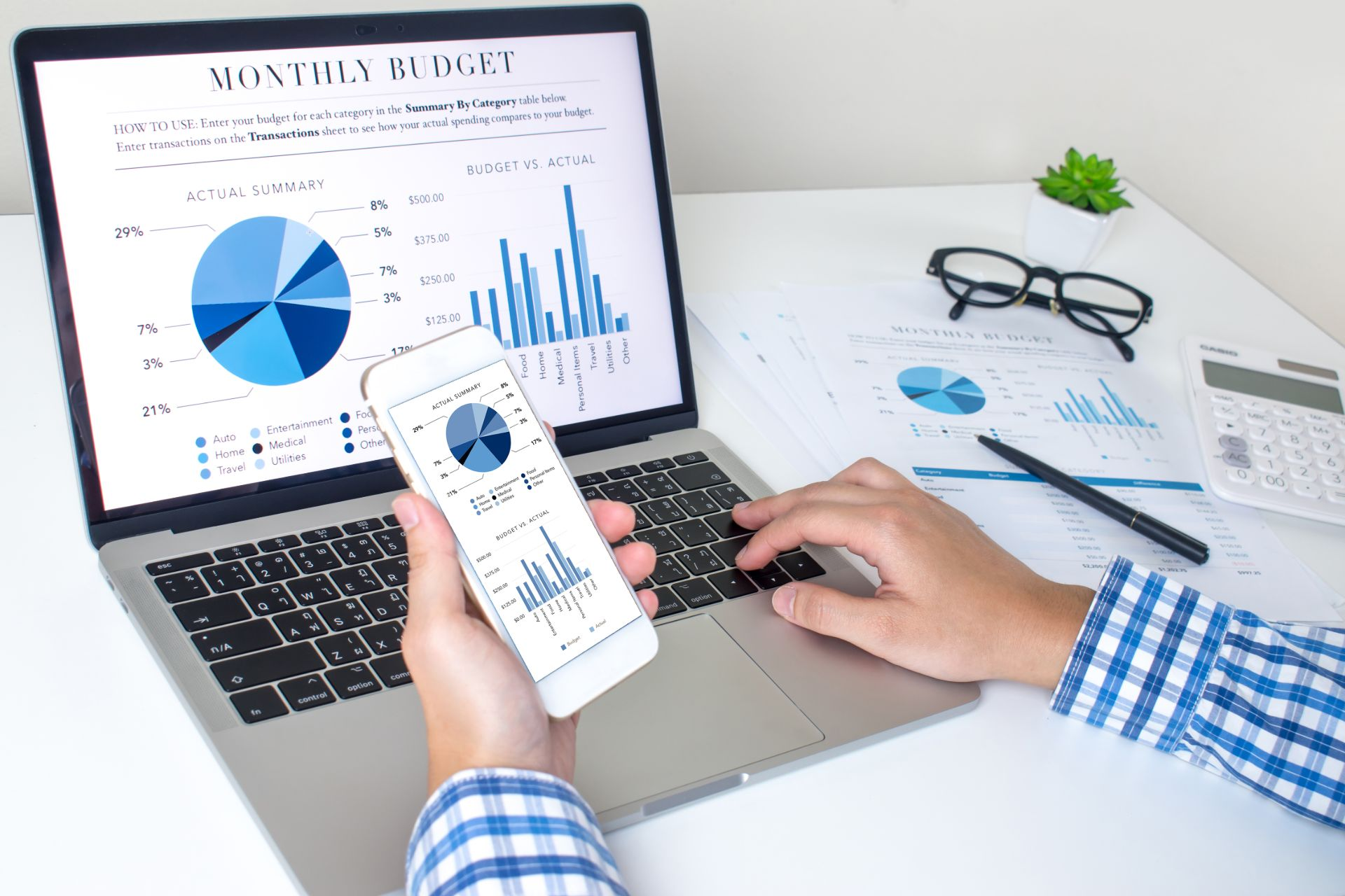 Review business financial statements
