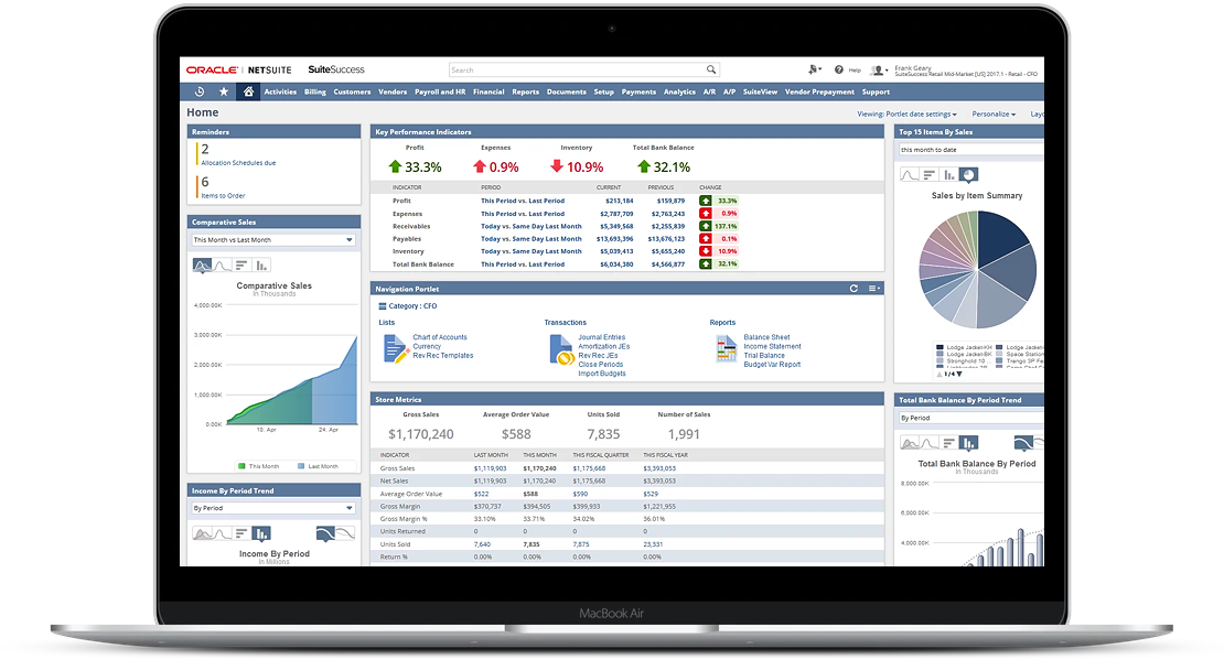 Oracle NetSuite Suitesucess Interface