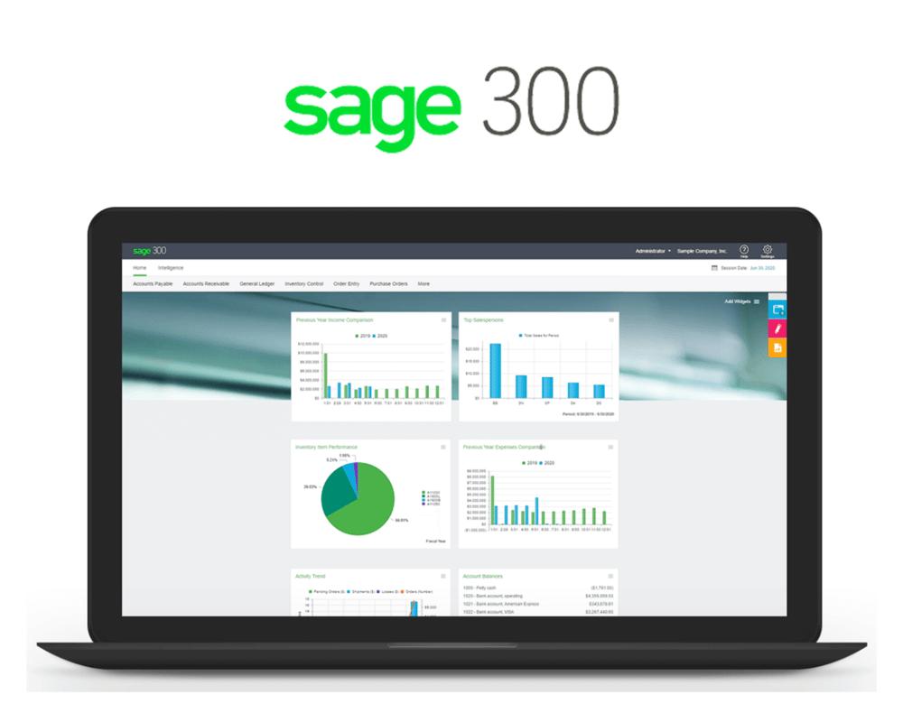 Sage 300 interface with logo 1600x1280