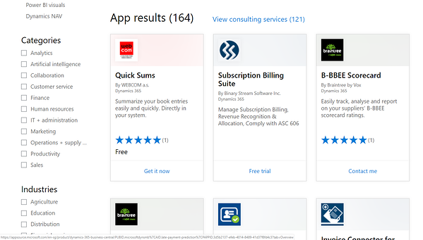 Microsoft AppSource is a source of extensions that allow you to do more with Business Central.