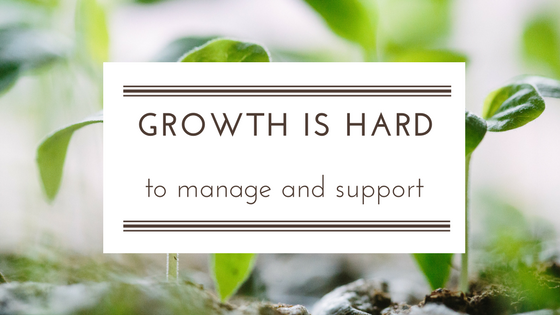 Difficulty managing growth in SME
