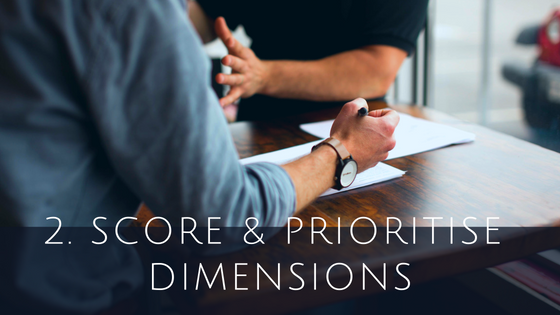 Score and Prioritise Cloud ERP dimensions