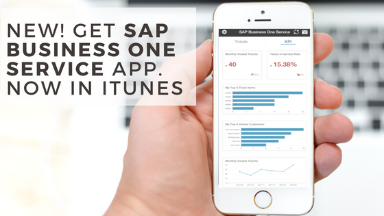SAP Business One Service Mobile App Launches