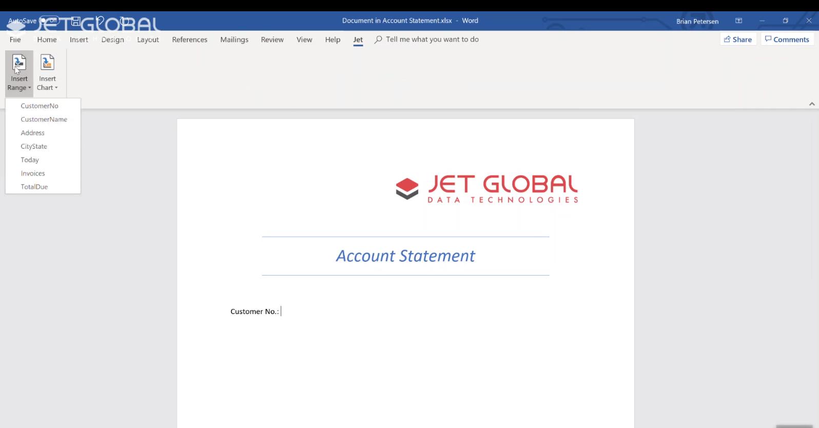 Jet 20.0 Word integration 2