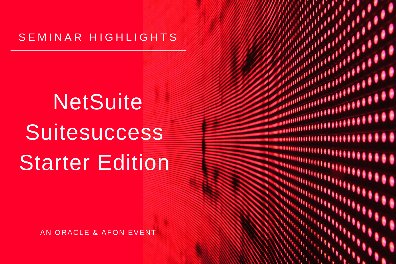 NetSuite Suitesuccess Starter Edition