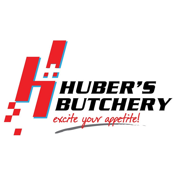 huber butchery white logo