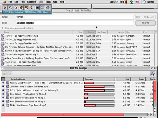 Napster Spotify streaming